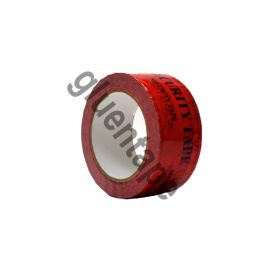 Red Tamper Tape Single Roll